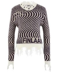 AALTO Knitted Wave Sweater - Multicolor
