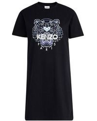 KENZO Robe t-shirt Tigre - Noir