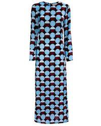 La DoubleJ Kleid Swing mit langen Ärmeln - Blau