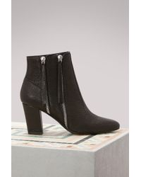 Michel Vivien - Citrine Leather Ankle Boots - Lyst