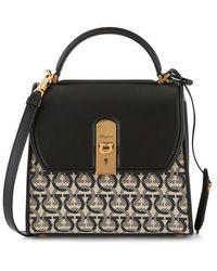Ferragamo Boxyz Handbag - Black