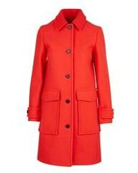 KENZO Straight-cut Coat - Red
