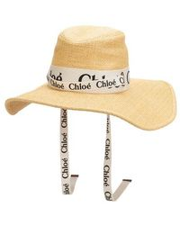 Chloé Chapeau à logo - Neutre