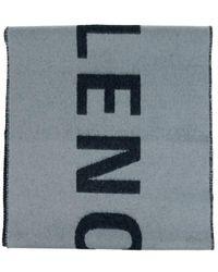 Balenciaga Wollschal mit Logo - Grau