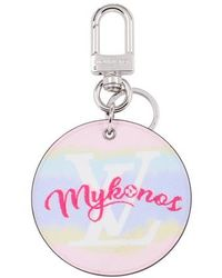 Louis Vuitton Lv Escale Mykonos Bag Charm And Key Holder - Pink