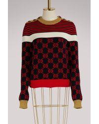 Gucci | Gg Striped Jumper | Lyst