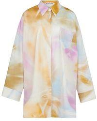 Acne Studios Oversized Spray-paint Shirt - Multicolor