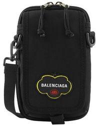 Balenciaga Explorer Pouch Strap - Black