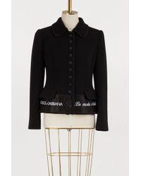 Dolce & Gabbana - Buttonned Jacket - Lyst