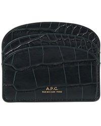 A.P.C. Card Holder - Black