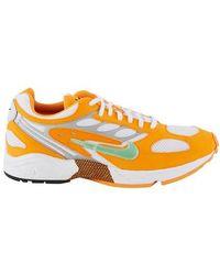 Nike Air Ghost Racer Paneled Sneakers - Orange