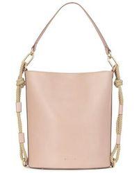 Vanessa Bruno Calfskin Leather Holly Bucket Bag - Pink