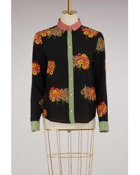 RED Valentino   Silk Printed Flowers Shirt   Lyst