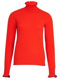 See By Chloé Turtleneck Knit Sweater - Red