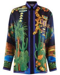 Versace Langärmeliges Hemd - Blau