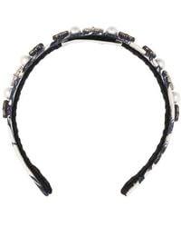 Erdem Silk Structured Hairband - Blue