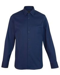 Prada Popeline-Hemd - Blau