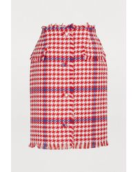 MSGM - Short Tweed Skirt - Lyst