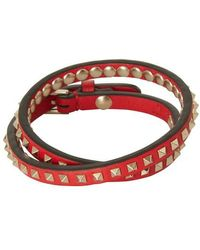 Valentino Valentino Garavani Rockstud Double Bracelet - Red