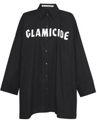 Acne Studios Fn-wn-blou000342 Black/white Magazine-print Shirt
