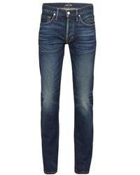 Tom Ford Japanese Selvedge Straight Denim Pants - Blue