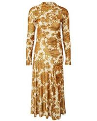 Dodo Bar Or Donatella Printed Dress - Metallic