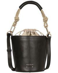 Vanessa Bruno Mini Holly Bucket Bag - Black