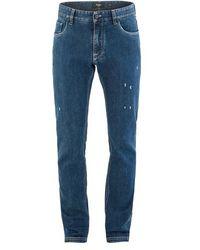 Fendi Jeans mit Diabolic-Detail - Blau