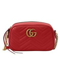 Gucci - GG Marmont Matelassé Leather Mini Shoulder Bag - Lyst