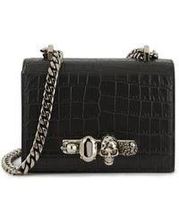 Alexander McQueen Jewelled Small Shoulder Bag - Black