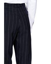 Loewe Fisherman Striped Trousers - Blue