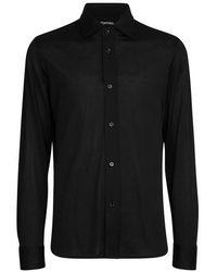 Tom Ford Hemd aus Jersey - Schwarz