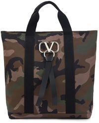 Valentino Cabas camouflage VLTN Garavani - Vert