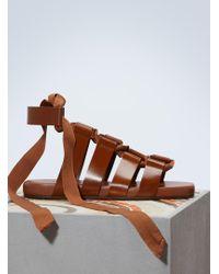 Jil Sander - Lace-up Sandals - Lyst