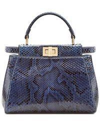 Fendi Peekaboo Iconic Mini - Blue