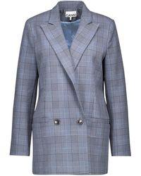 Ganni Suit Jacket - Blue