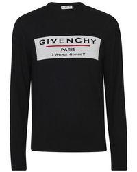 Givenchy Maille ras du cou en laine à logo Address - Noir