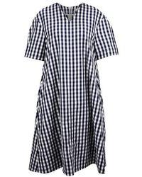 Mansur Gavriel Gingham Dress - Blue