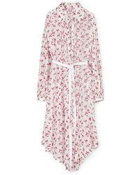 Loewe Flower Print Shirt Dress - Pink