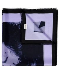 Acne Studios Echarpe - Bleu