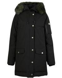 KENZO Fake Fur Parka - Black