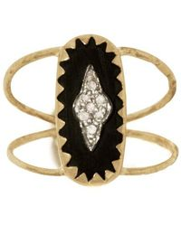 Pascale Monvoisin Mahe Ring Black - Metallic