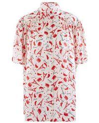 Balenciaga Paris Je T'aime Short-sleeved Shirt - Red