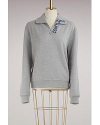 Courreges - Zipped Sweater With Logo - Lyst