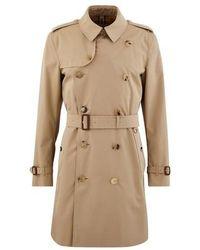 Burberry Mittellanger Heritage-Trenchcoat in Kensington-Passform - Natur