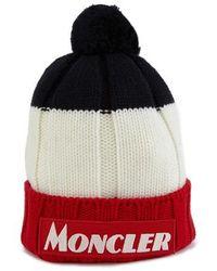 Moncler - Bonnet en tricolore - Lyst