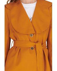 Patou Flower Belted Jacket - Brown