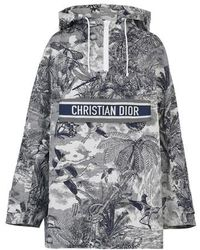 Dior Toile De Jouy Tropicalia Anorak - Gray