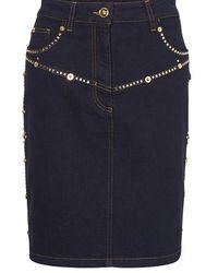 Versace Denim Mini-skirt - Blue