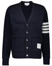 Thom Browne Cardigan 4-Bar - Bleu